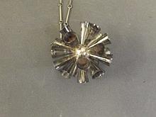A 1980s Irish Hallmarked silver pendant on chain