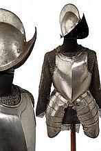 A composite half armor with mail shirt