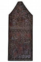 A wooden kris panel