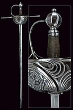A cup-hilted sword