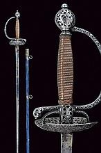 A beautiful small-sword with scabbard