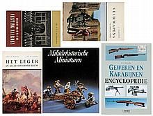 A lot of five books about militaria and arms