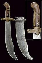 An extremely rare knife for chasseur 1835