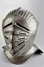 A closed helmet in the XVI century style