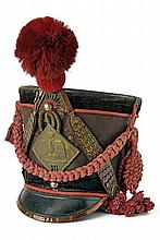 A shako for an officer of the 18th line regiment