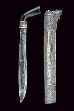 A fine silver mounted klewang