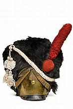 An extremely scarce 1828-32 model grenadier fur helmet of the 4th Swiss Regiment