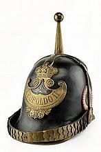 A Civil Guard trooper's helmet