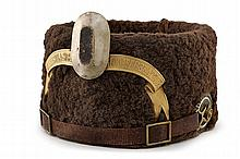 A fur hat of the XVII Regiment of Braunschweig Hussars