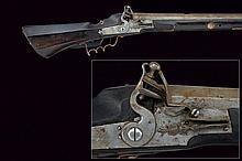 A heavy wall flintlock rifle