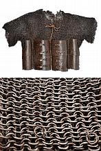 A mail shirt with back and breast plates
