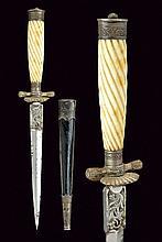 A fine silver mounted dagger