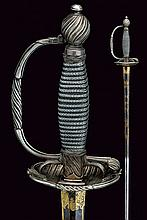 A silver mounted officer's small-sword