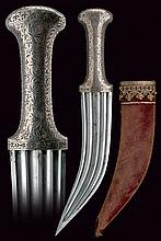 A beautiful silver hilted dagger