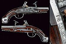 A nice pair of snaphaunce flintlock travelling pistols