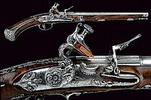 A beautiful flintlock pistol by Ponsino Valetto Borgognone