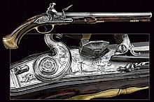 An important flintlock pistol by Lorenzoni