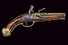 A beautiful pistol-shaped flintlock lighter