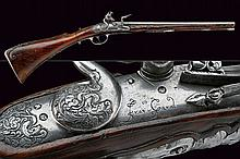 A rare folding flintlock gun by Francesco Garatto