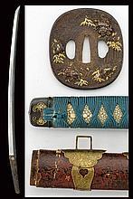 A katana with tachi style mounting