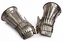 A pair of gauntlets
