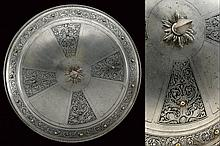 An engraved shield