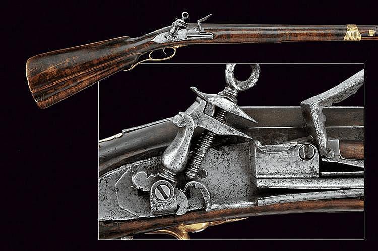 A flintlock gun in Roman style