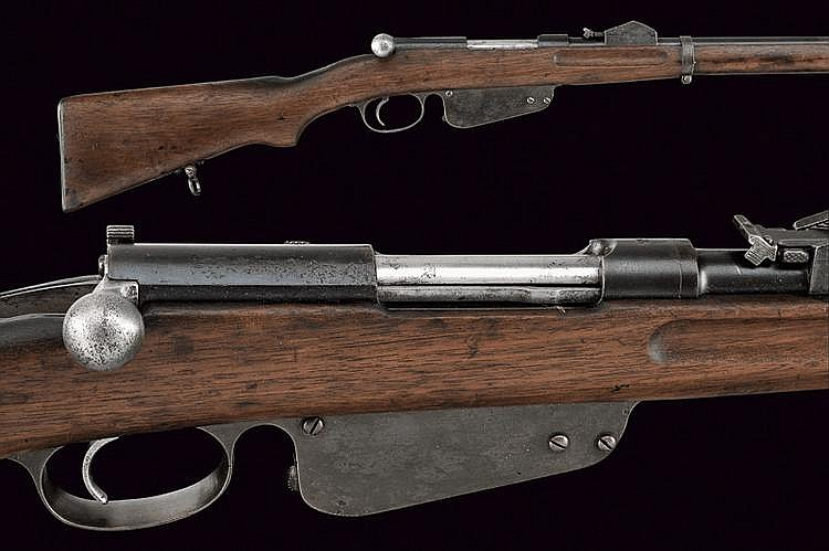 A 1886 model Mannlicher rifle