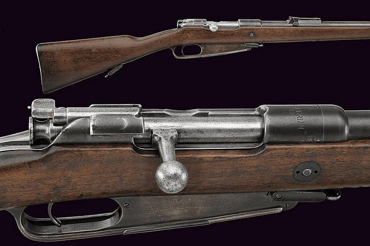 A 1888 model breech-loading rifle
