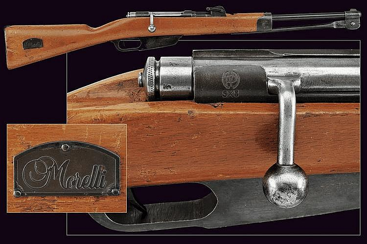 A Balilla breech-loading gun with bayonet