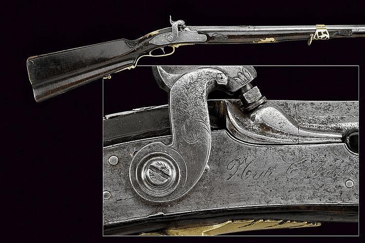 A percussion gun