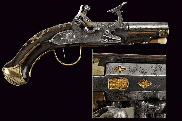 A flintlock pistol by Angelo Franceschi