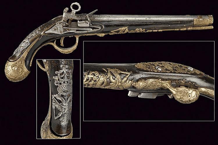 A rare sardinian flintlock pistol