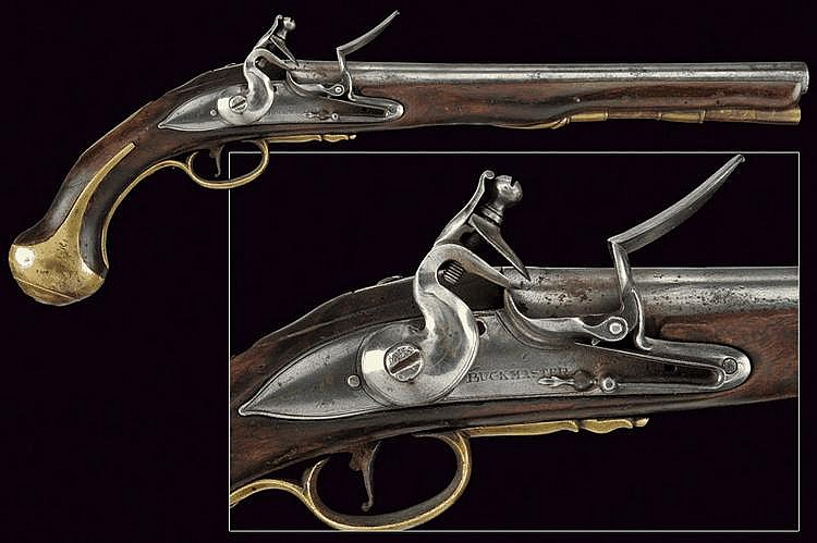 A flintlock pistol by Buckmaster