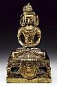 Gilt bronze figure of Amitayus Qianlong mark and period