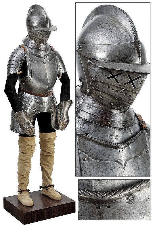 A composite half-armour
