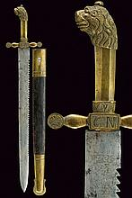 A fine saw-back dagger of the National Guard