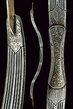 A silver decorated steel bow