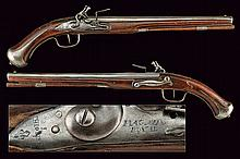 A rare and early pair of flintlock pistols by Thiollier made for the