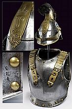 A trooper's helmet and cuirass