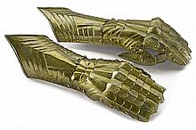 A pair of Gothic gauntlets