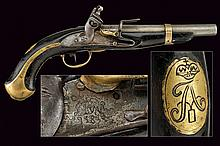A 1809 model flintlock pistol
