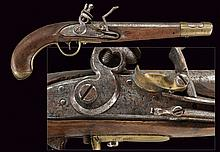 A 1798 model cavalry flintlock pistol