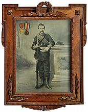 A print with medals