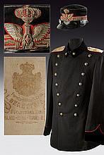 A general's jacket and visor-cap