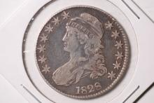 1828 Capped Bust Half Dollar- F