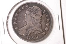1829 Capped Bust Half Dollar - VF