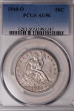 1848-O Seated Liberty Half Dollar- PCGS AU50