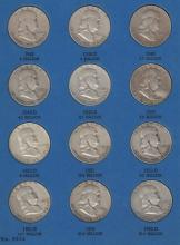 1948-1963D (n/c) Franklin Half Dollar Lot