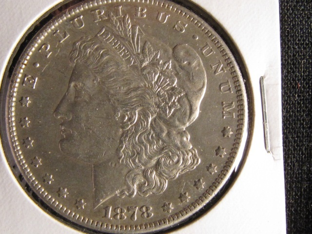 1878-S Morgan Silver Dollar - AU